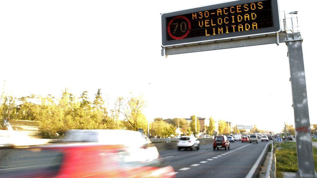 Madrid activa el protocolo por alta contaminación y deja la velocidad en la M-30 en 70 km/h