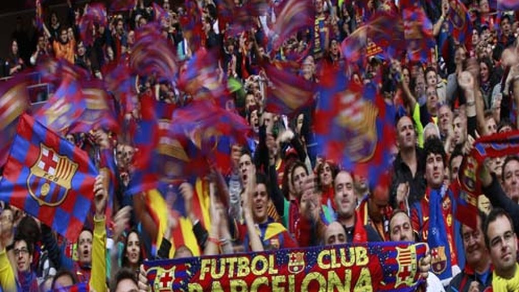La afición del Barça, en las gradas