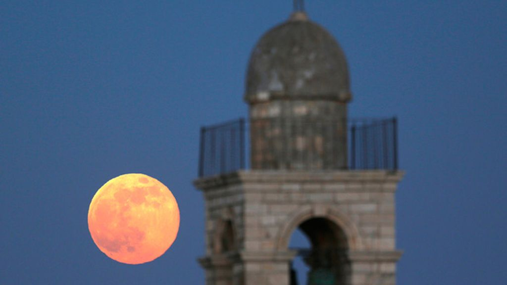 'Superluna' en Jerusalén