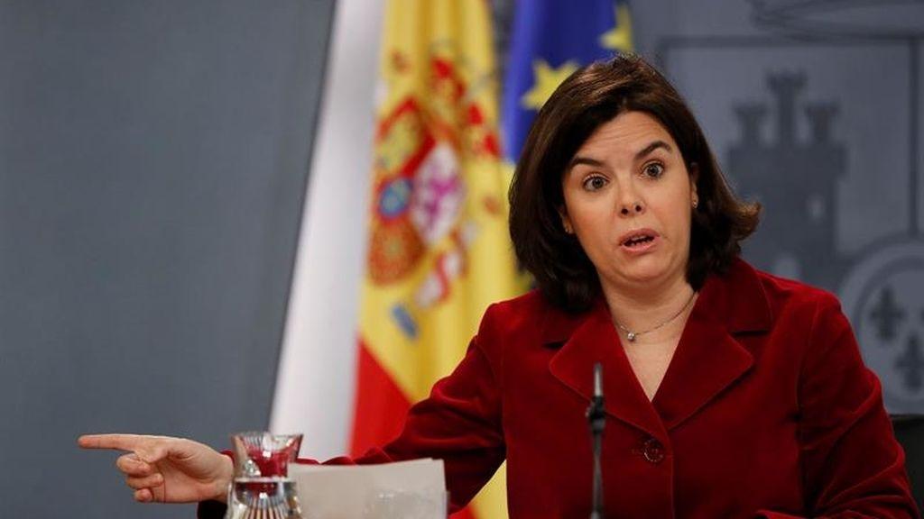 Sáenz de Santamaría le quita importancia a la declaración de Enrique Ortiz