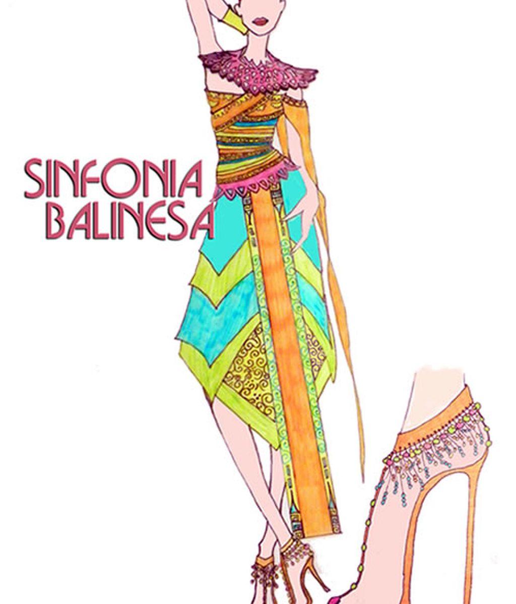 Vestido sinfonía balinesa