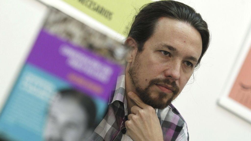 Pablo Iglesias en la presentación del libro 'Conversaciones con Pablo Iglesias'
