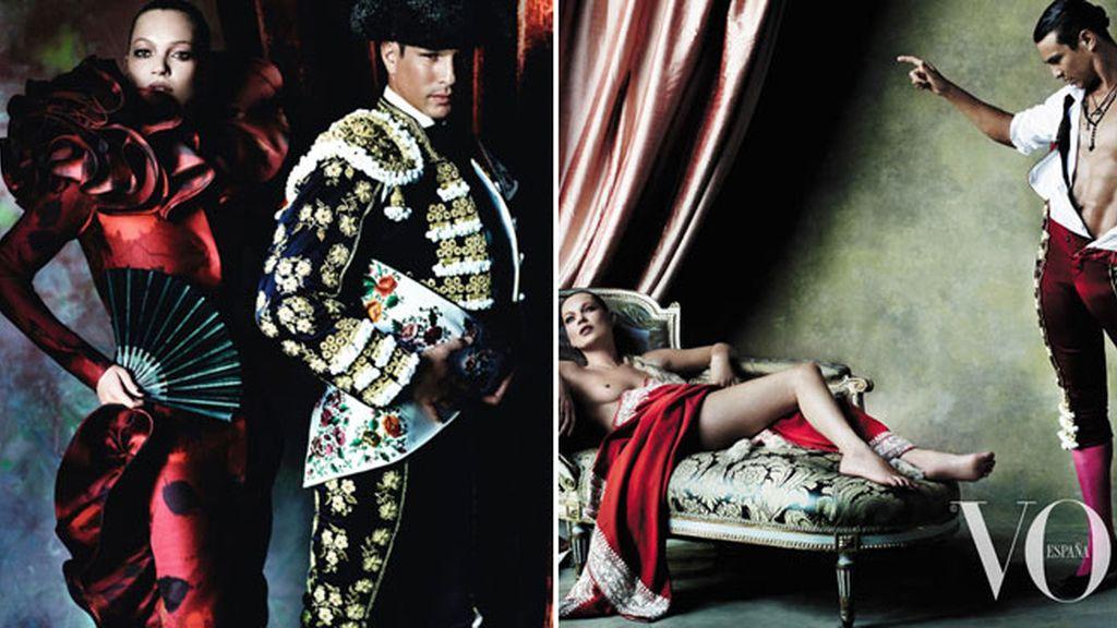 Manzanares y Kate Moss, para Vogue