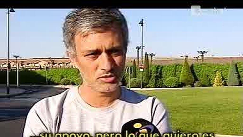 Entrevista a Mourinho, que ya piensa en el Real Madrid