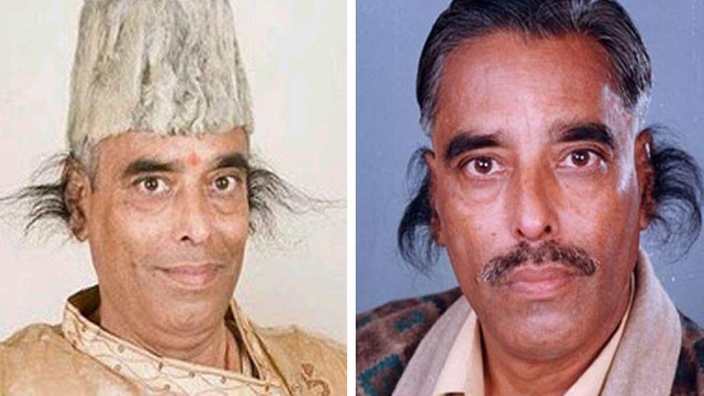 Radhakant Baijpai, el hombre con el pelo de las orejas más largo