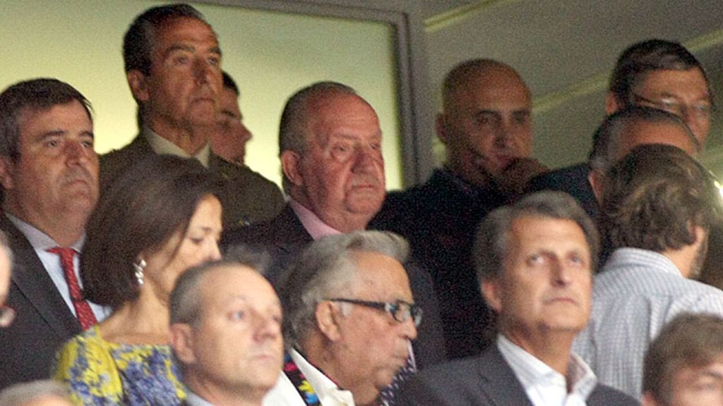 Don Juan Carlos I, siempre con la selección española