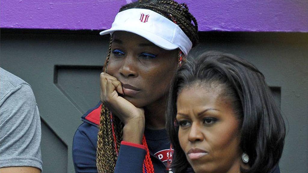 Michelle Obama y Serena Williams vieron juntas el tenis