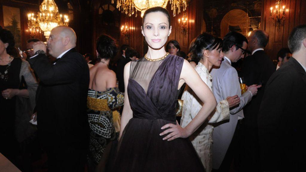 Ana Álvarez recurrió a los clásicos: vestido de Dior y joyas de Bulgari