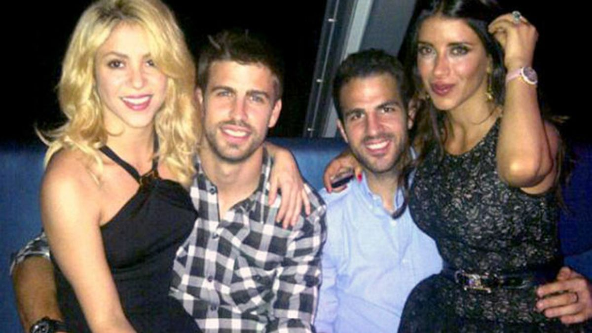 Gerard Piqué, Shakira, Cesc Fábregas y su novia, Daniela Semaan