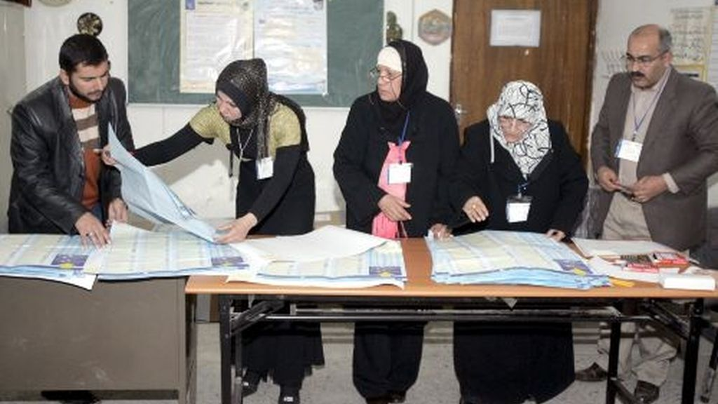 Imagen de los iraquies votando el pasado sábado. Foto: EFE