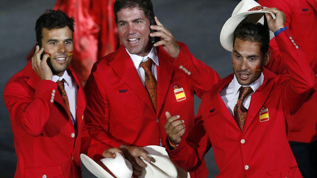 Miembros de la delegación española durante la ceremonia de inauguración de la Juegos Olímpicos de Londres 2012