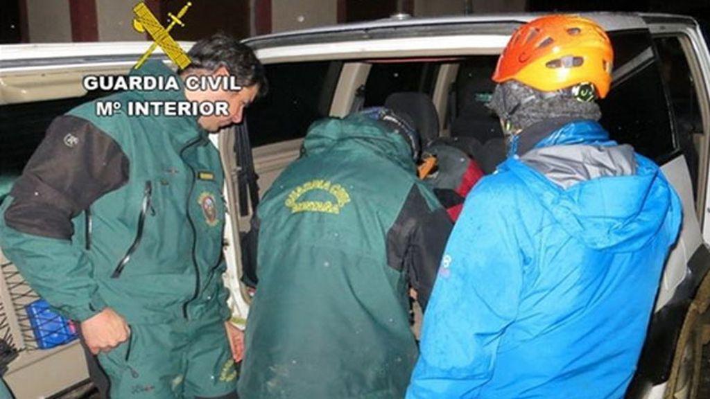 Rescatados dos montañeros que quedaron enriscados a 2.200 metros en Peña Ubiña