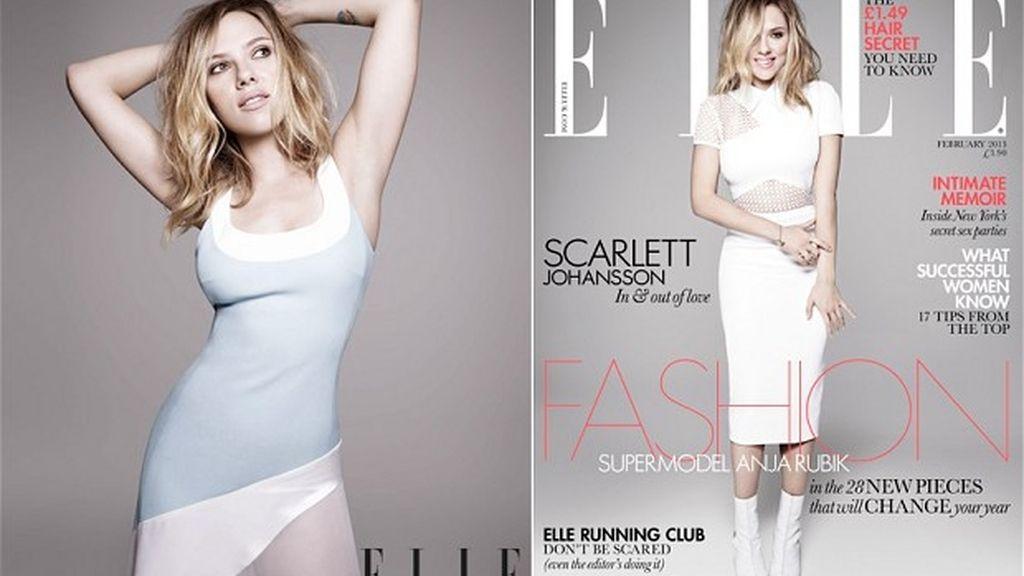 Scarlett Johansson, para Elle. Foto: Elle