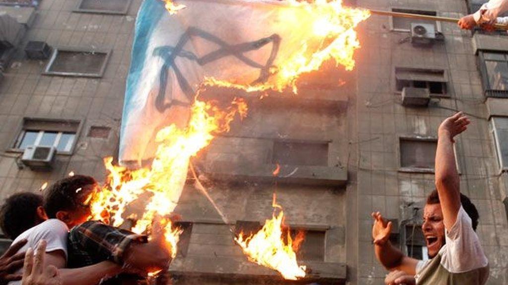 El asalto egipcio en imágenes