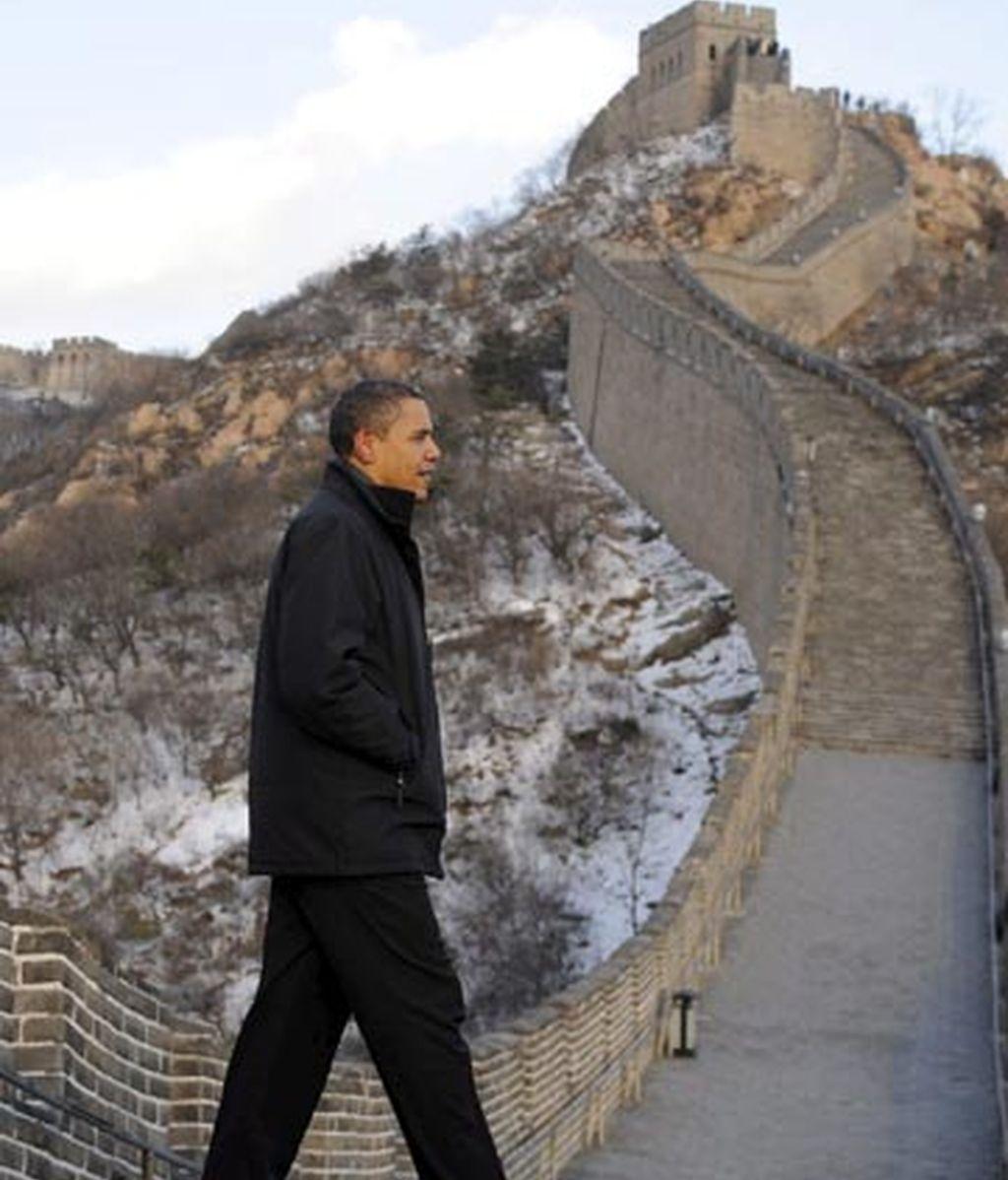 Obama en la Gran Muralla China