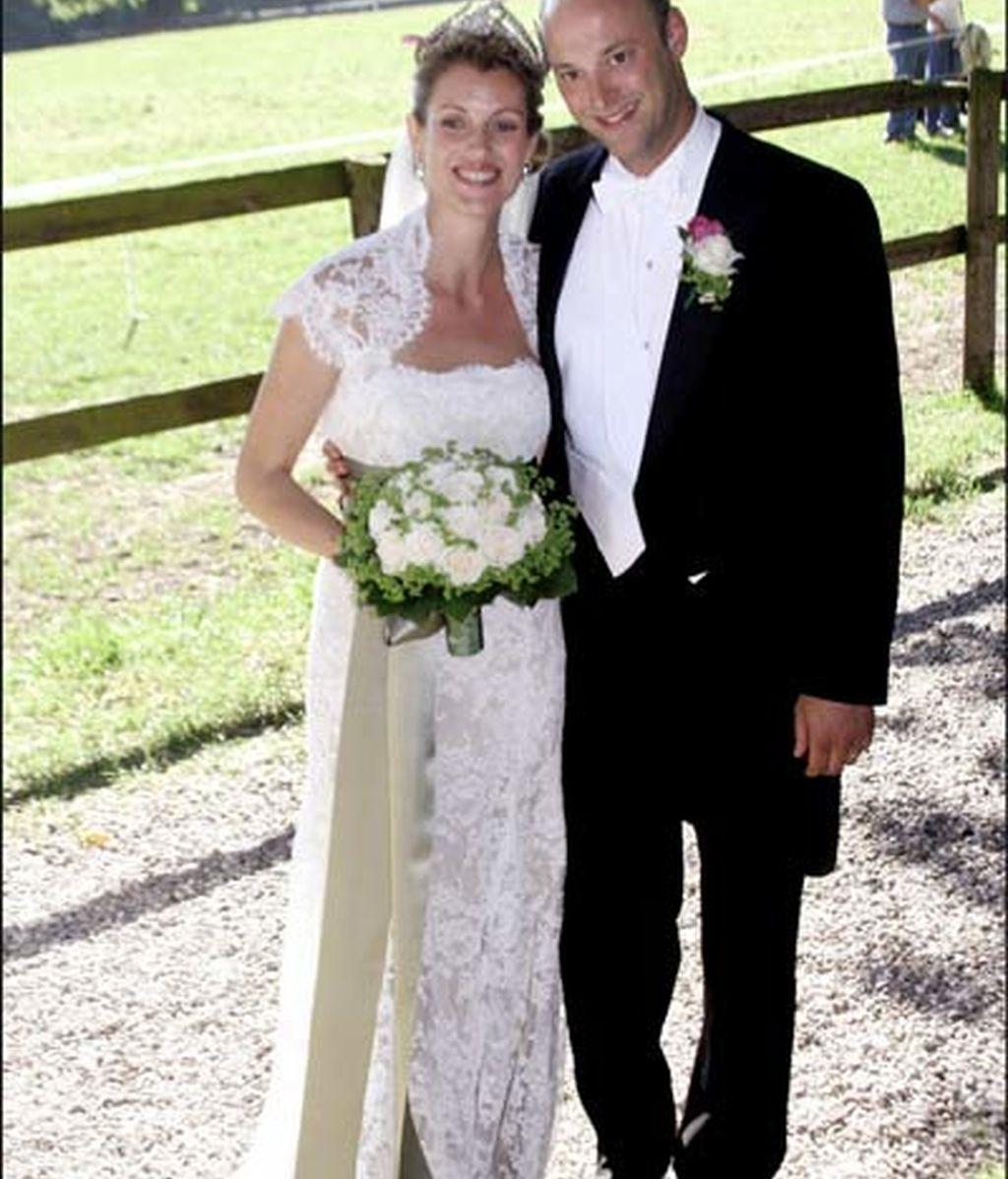 10-06-2006 Laetitia Bechtolf y el príncipe Philipp de Hesse/ Alemania