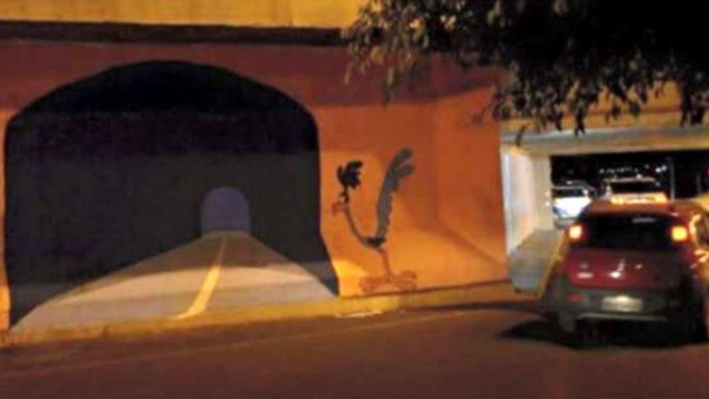 accidente coche,túnel pintado accidente,