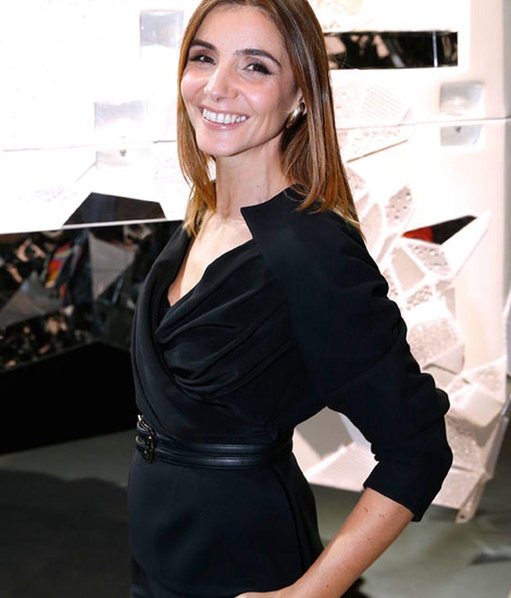 Clothilde Coureau, muy elegante de negro