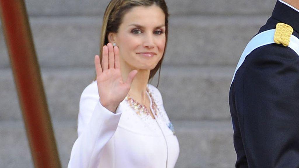 Letizia, con un Varela corto
