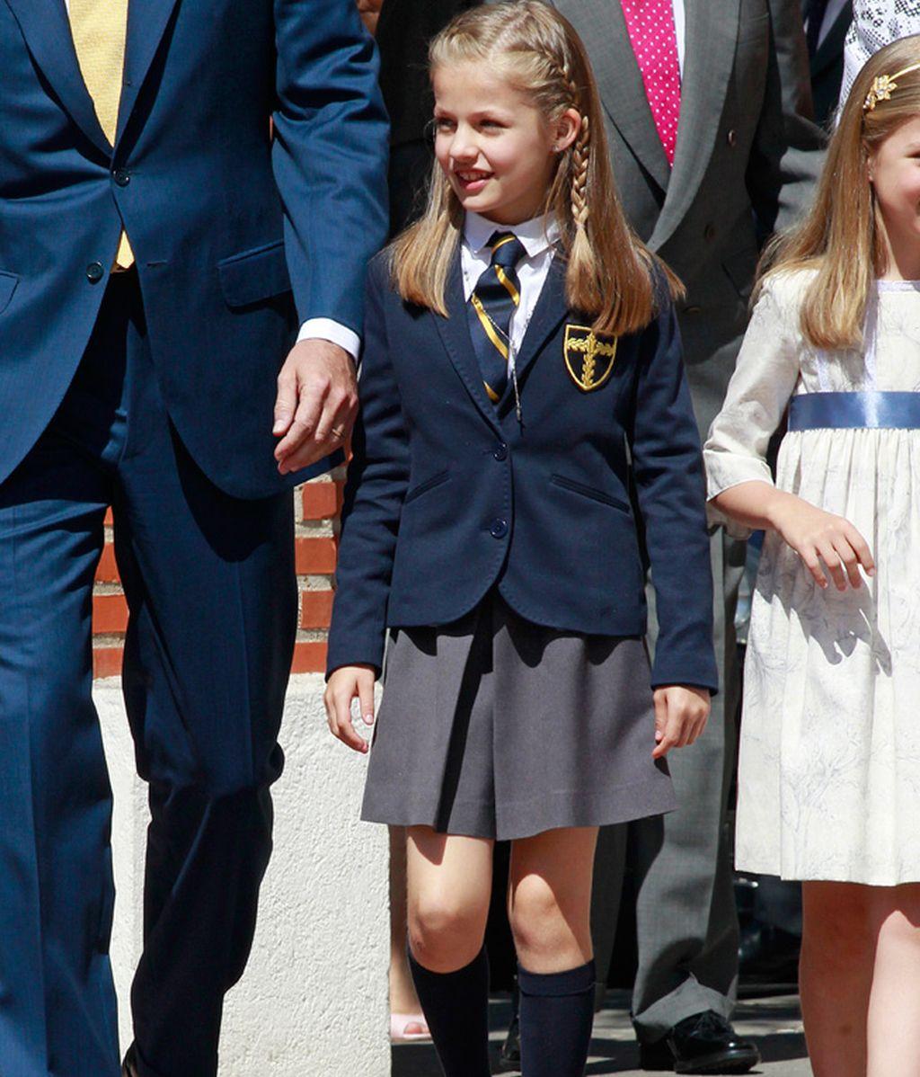 La Princesa Leonor con el uniforme de gala del colegio