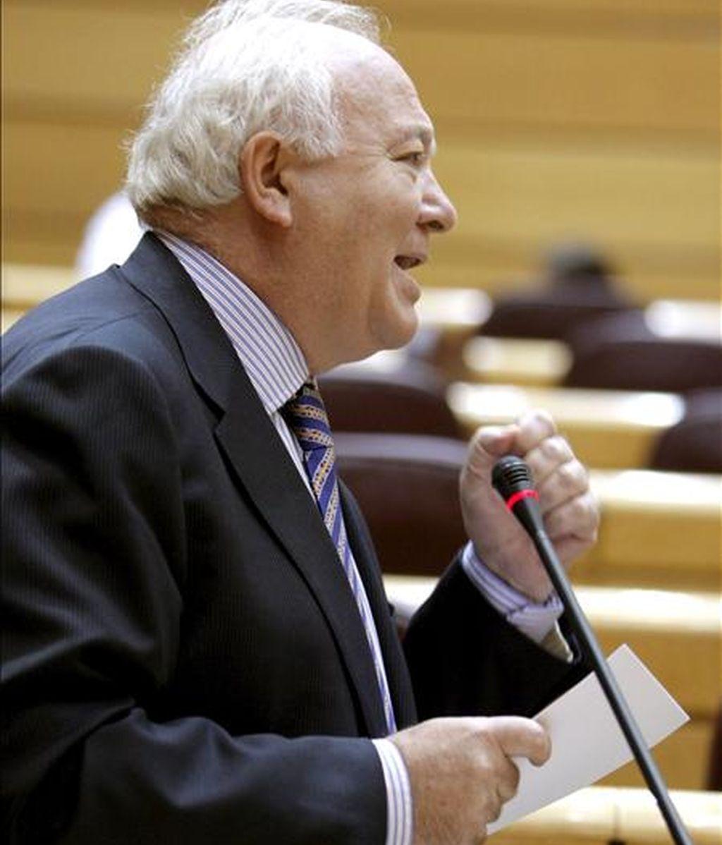 El ministro de Asuntos Exteriores y Cooperación, Miguel Ángel Moratinos, durante una sesión. EFE/Archivo