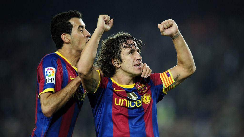 Carles Puyol cede el dorsal '5' al centrocampista Sergio Busquets