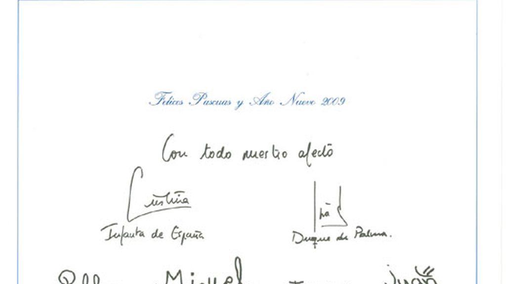 Felicitación de los Duques de Palma