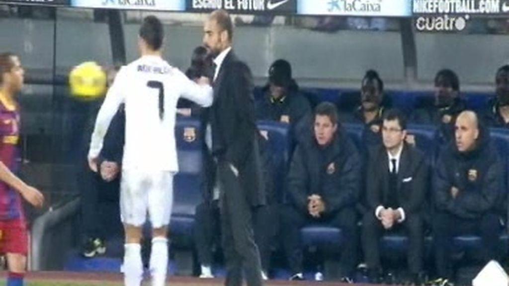 Entre Cristiano Ronaldo y Guardiola hubo más que palabras