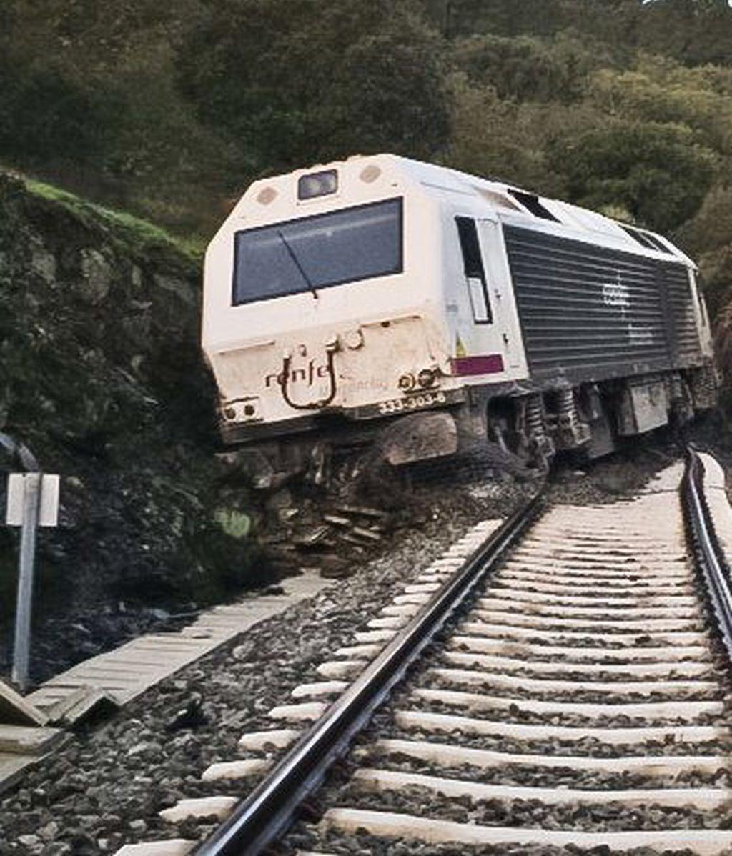 Descarrilamiento de un tren cargado de amoniano