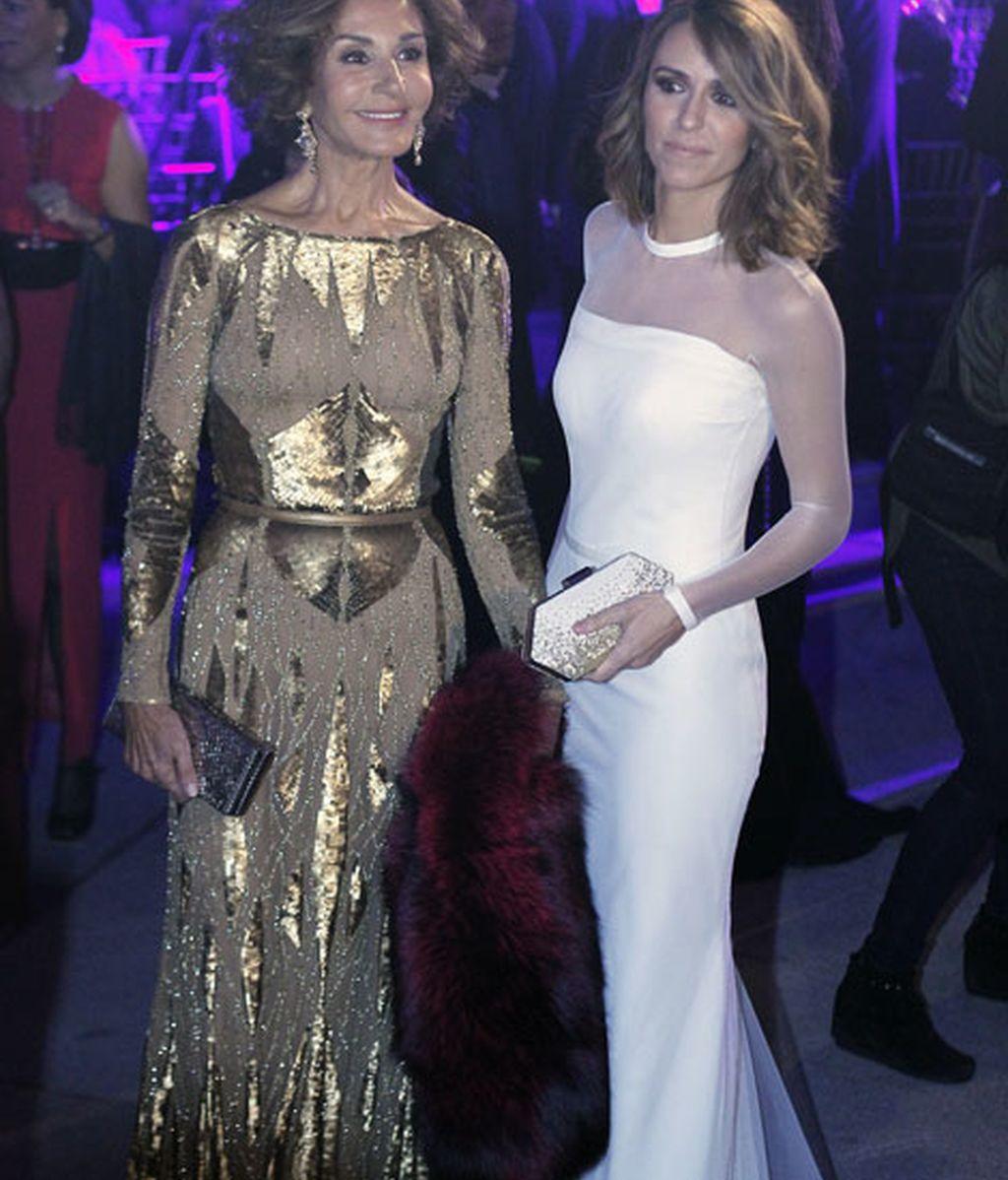 Nati Abascal y Laura Vecino, de dorado y blanco