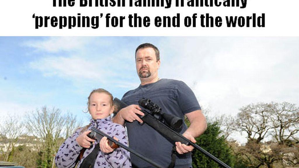 Una familia británica se prepara para el fin del mundo