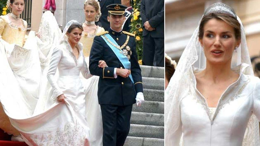 22-05-2004 Doña Letizia Ortiz y el príncipe Felipe de Borbón
