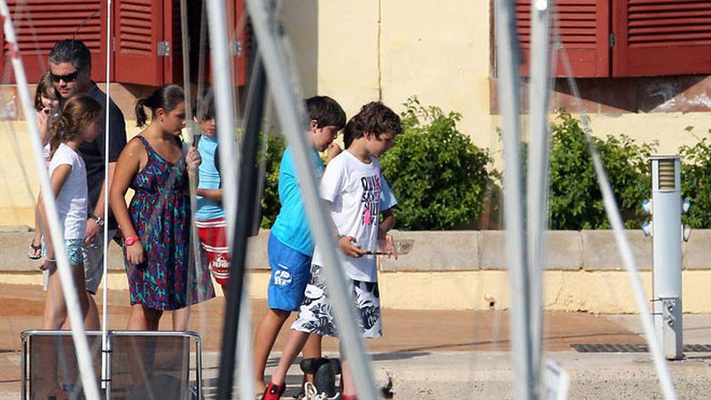 La reina Sofia disfruta de sus nietos