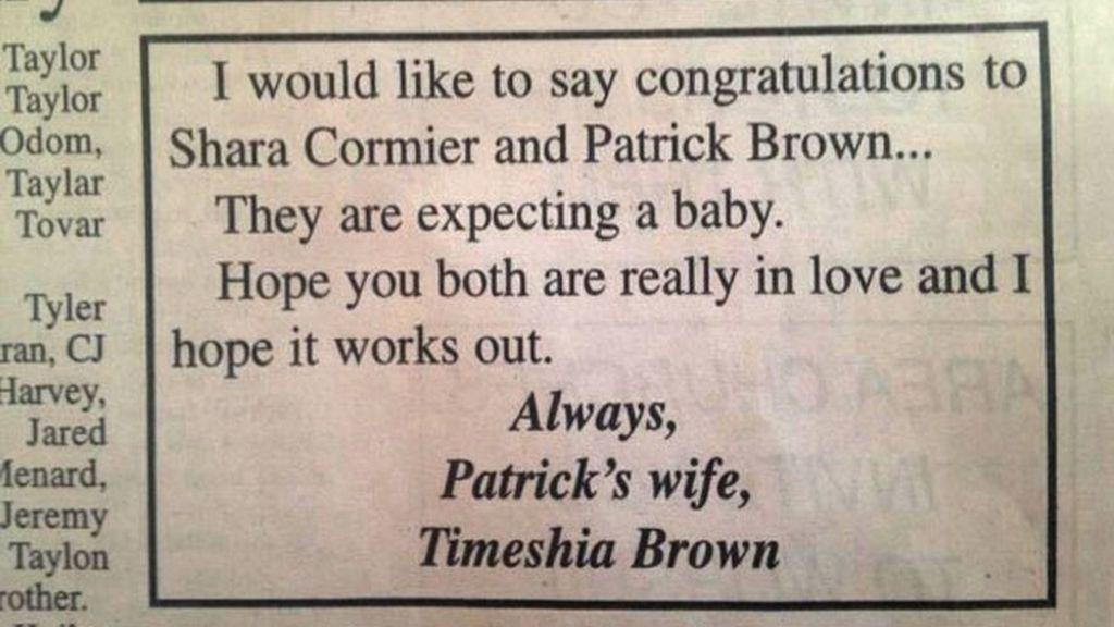 venganza, esposa engañada, Texas, marido infiel, Timeshia Brown