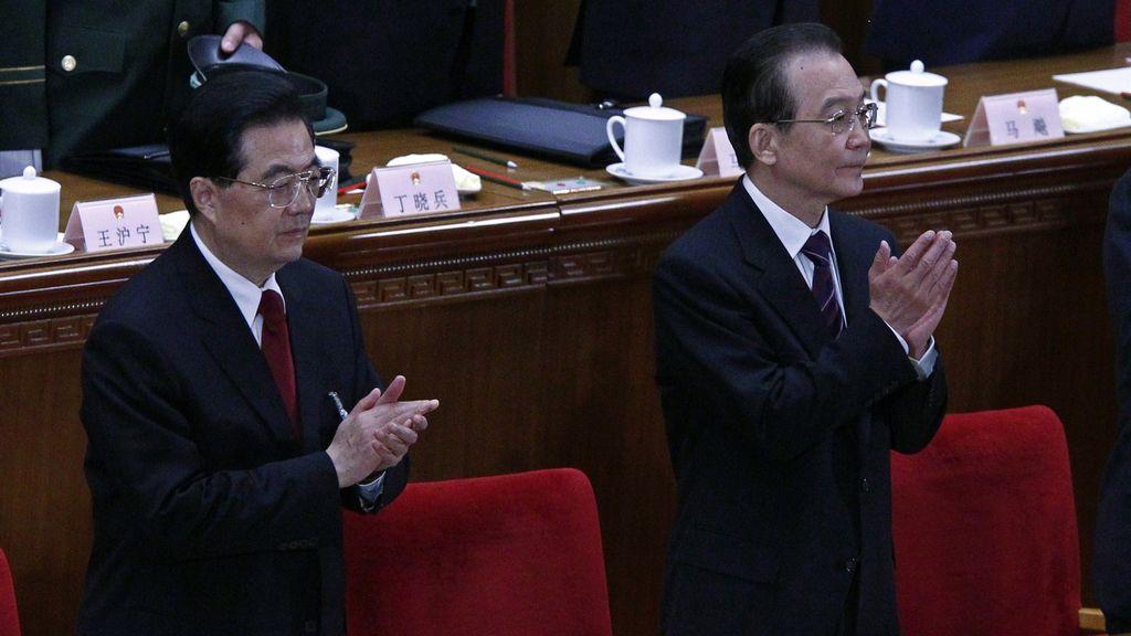 Wen Jiabao y Hu Jin Tao