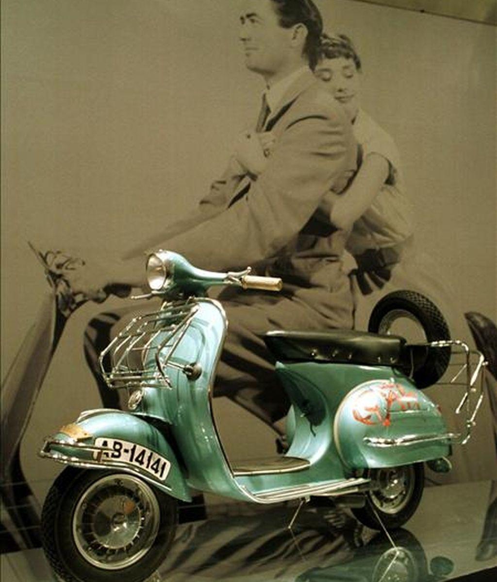 """Una foto de Gregory Peck y Awdrey Hepburn en """"Vacaciones en Roma"""". EFE/Archivo"""