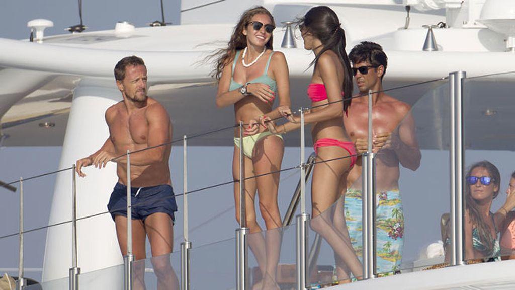 Fernando Verdasco y Sete Gibernau se divierten en alta mar