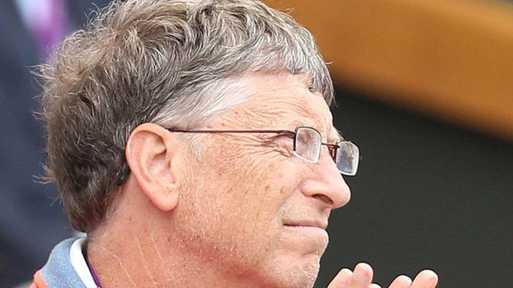 Bill Gates no se perdió la semifinal en la que jugó Roger Federer