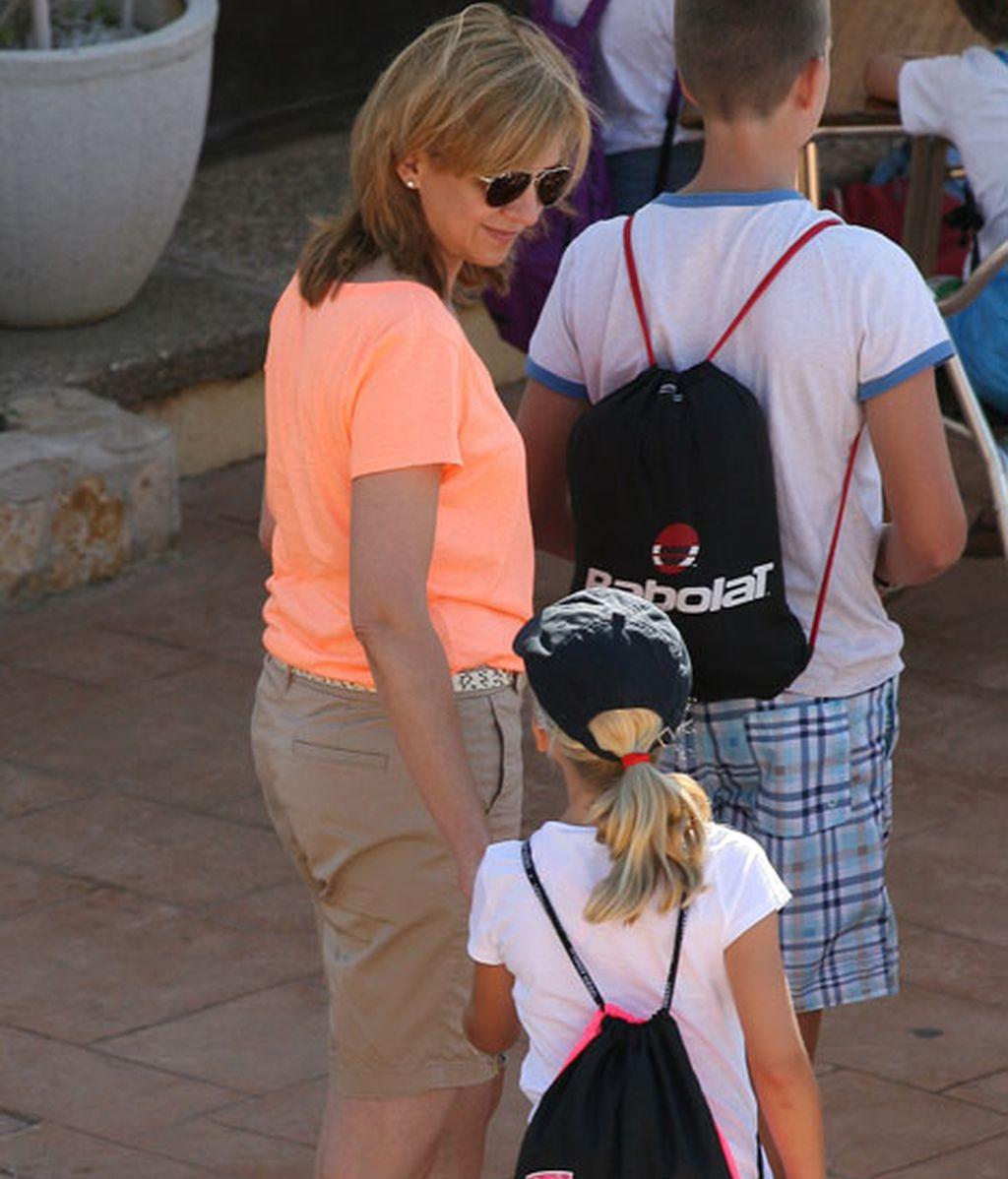 Las infanta Cristina junto a su hija Irene