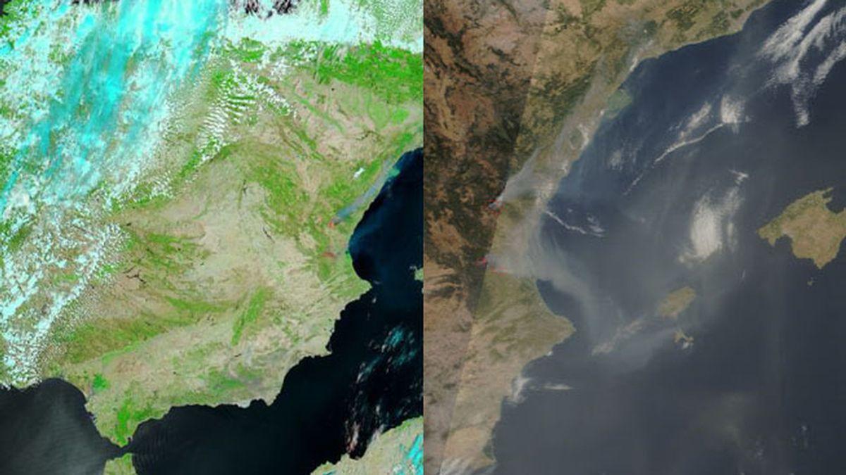 Los incendios en Valencia (NASA)