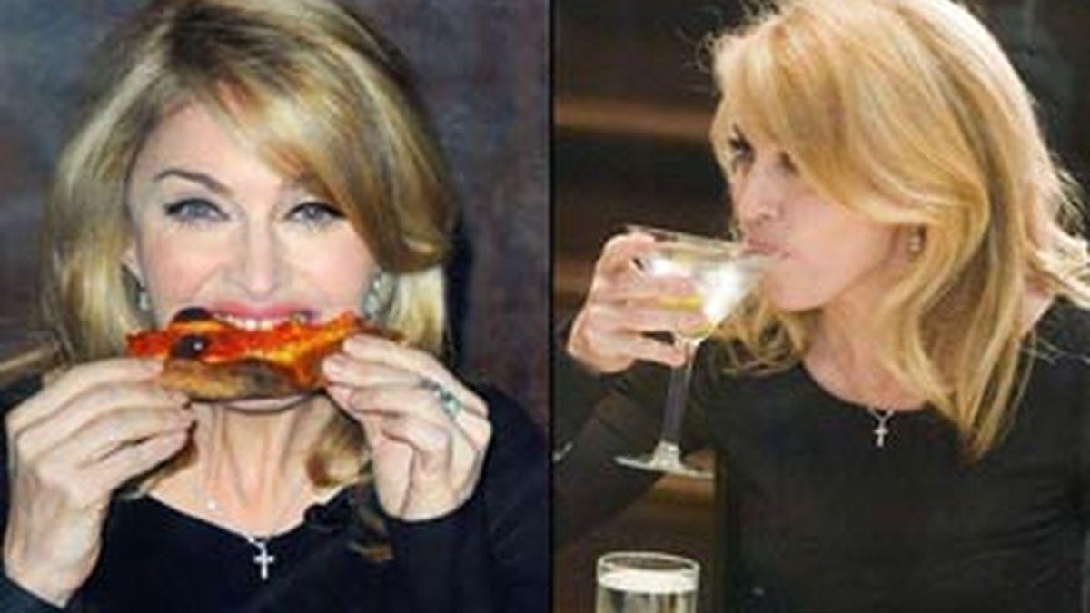 Madonna, que se prestó al espectáculo de David Letterman, desmintió rotundamente que se fuera a casar.