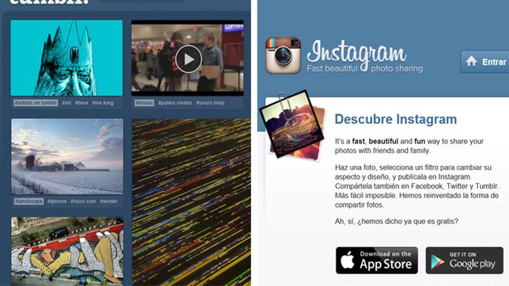 Instagram y Tumblr, las redes más populares