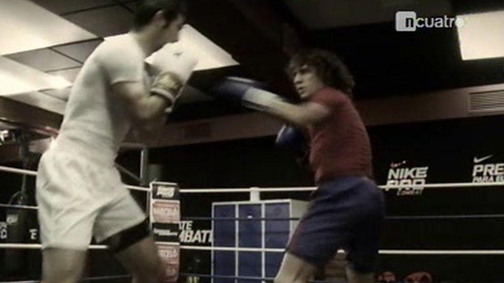 Pujol y Albiol se retan en un combate de boxeo