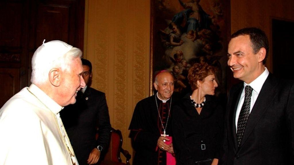Zapatero y el Papa en Valencia