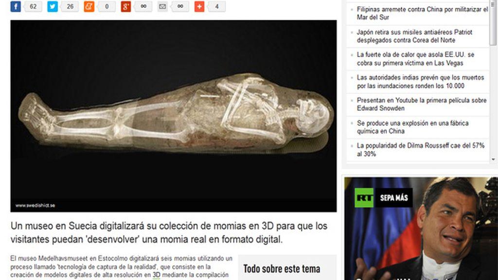Un museo sueco deja a sus visitantes 'desenvolver' a momias egipcias