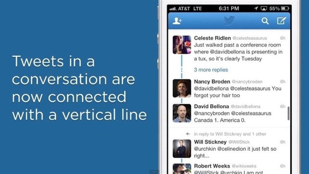 Twitter se actualiza con un nuevo diseño para las conversaciones