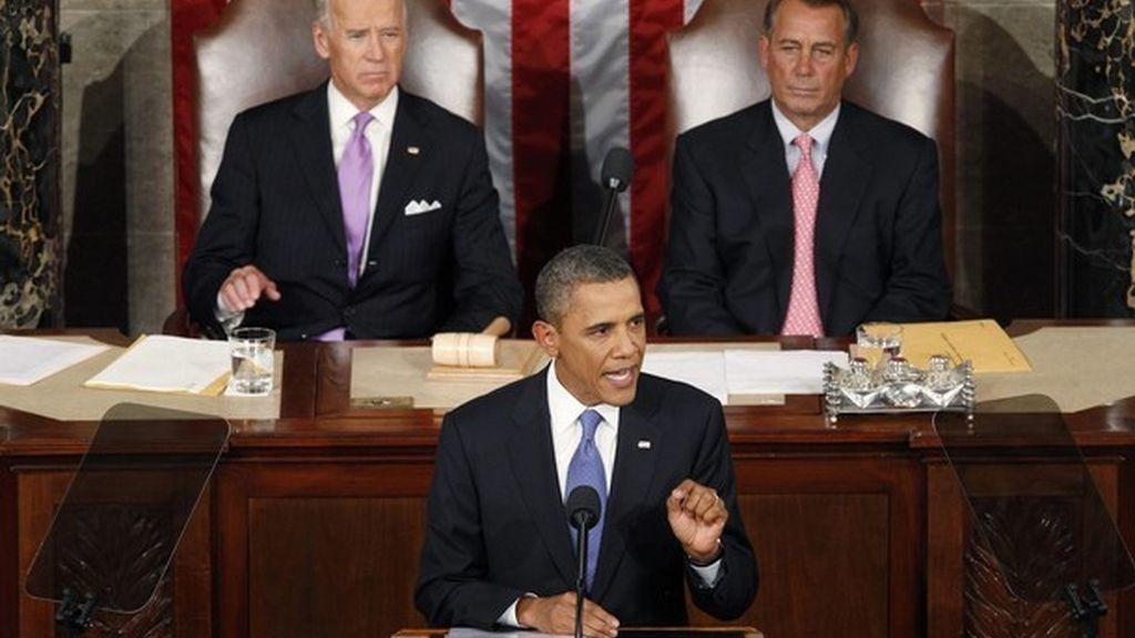 Barack Obama, durante su comparecencia en el Congreso.