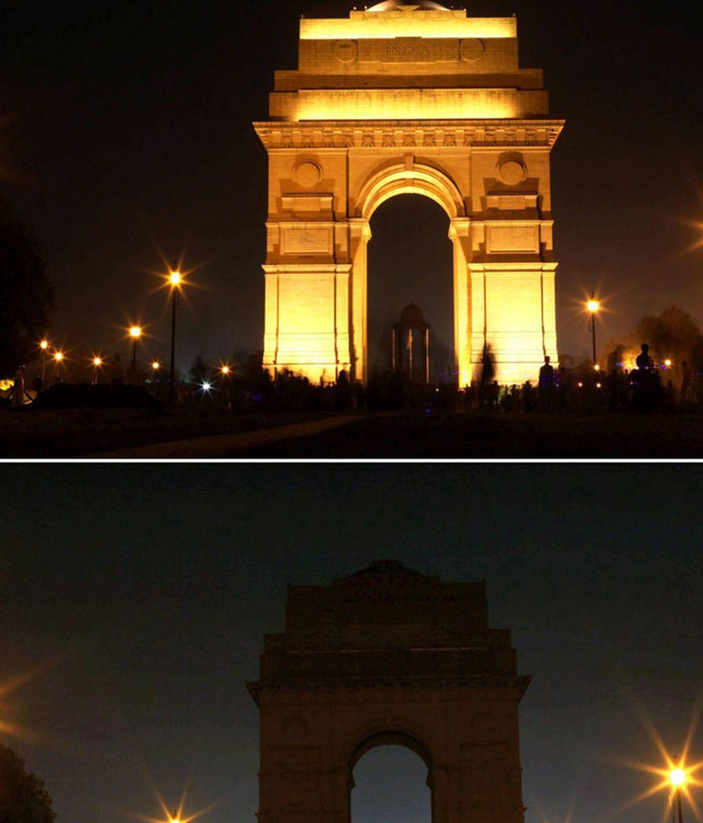 El mundo apaga sus luces por el medio ambiente
