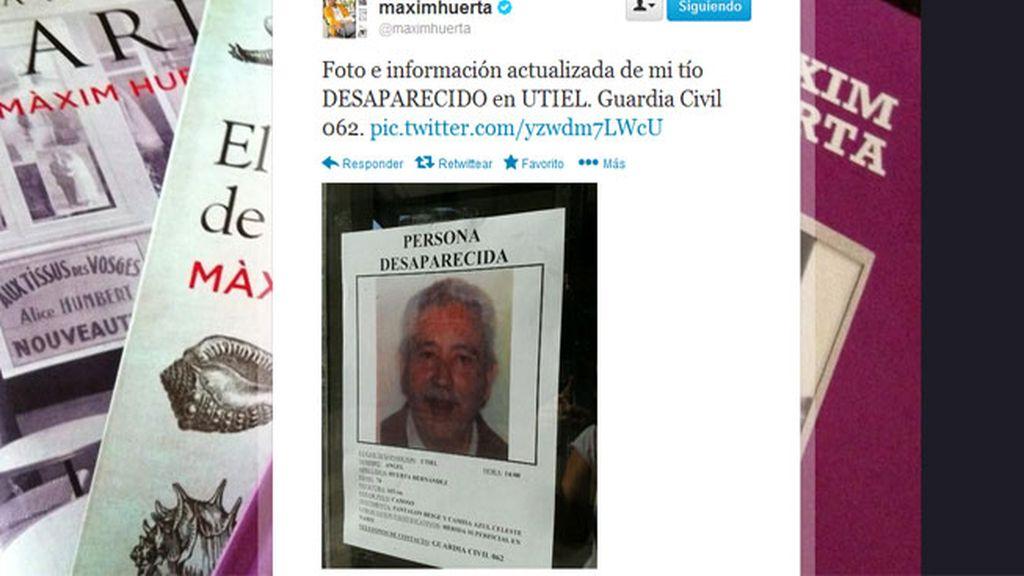 Trágico desenlace para el tío desaparecido de Màxim Huerta