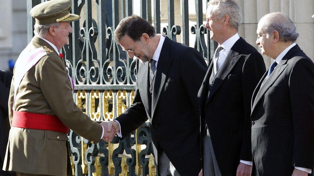 Juan Carlos también ha hecho referencia a la reciente aprobación de la Ley de Derechos y Deberes de los militares.